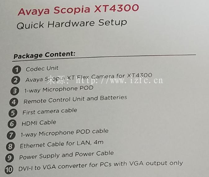 AVAYA SCOPIA XT4300视频会议终端安装教程